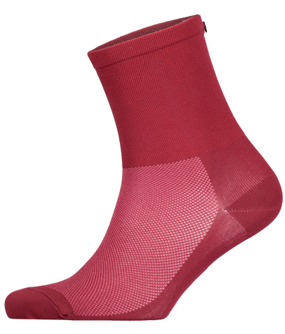 FINGERSCROSSED red merlot cycling performance racing socks from The Cycling Store