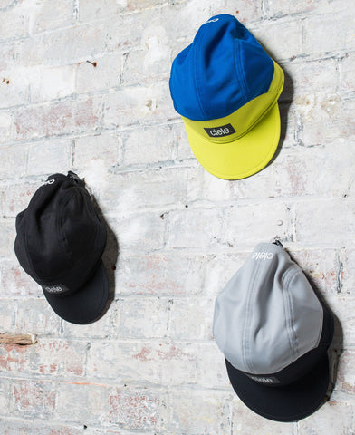 The Cycling Store - Essential Commuting Kit - cycling caps - Ciele Athletics - yellow - black - grey