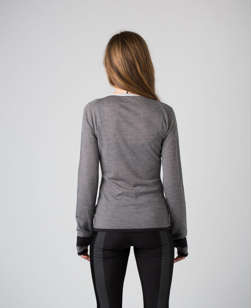 Findra merino grey longsleeved crew jumper sweater from The Cycling Store