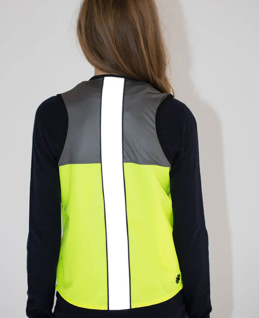 As Bold As reflective cycling vest pink and grey high vis from The Cycling Store