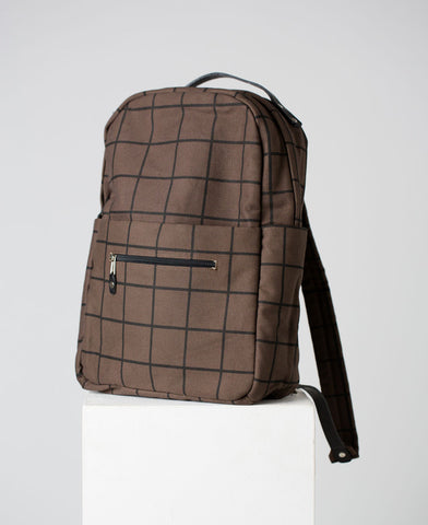 Canvas Grid Rucksack // Kate Sheridan