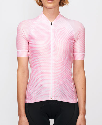 Tenet Supply pink lycra performance racing cycling jersey from The Cycling Store