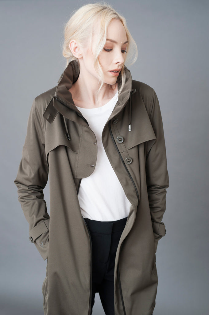 WATERPROOF COMMUTER PARKA - OLIVE // PROTECTED SPECIES