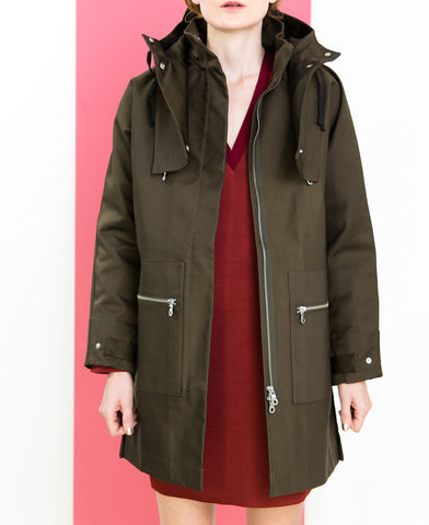 Bonded raincoat // Folk