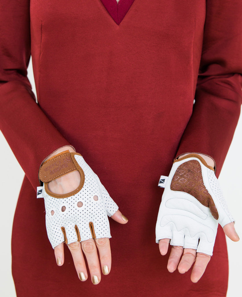 Leather cycle gloves // Hackney St Cloud x Veeka