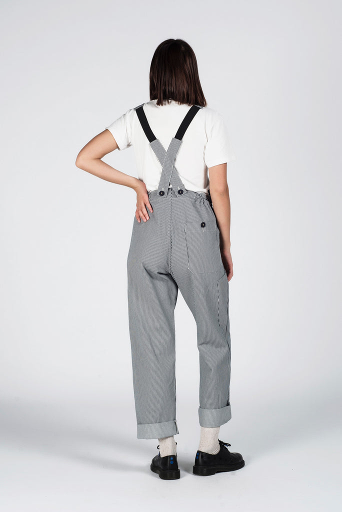 STRIPE DENIM DUNGAREES // KATE SHERIDAN