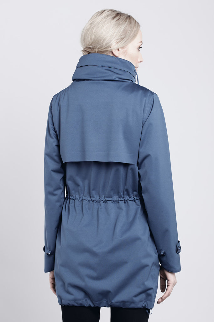 Waterproof Commuter Parka - Blue // Protected Species