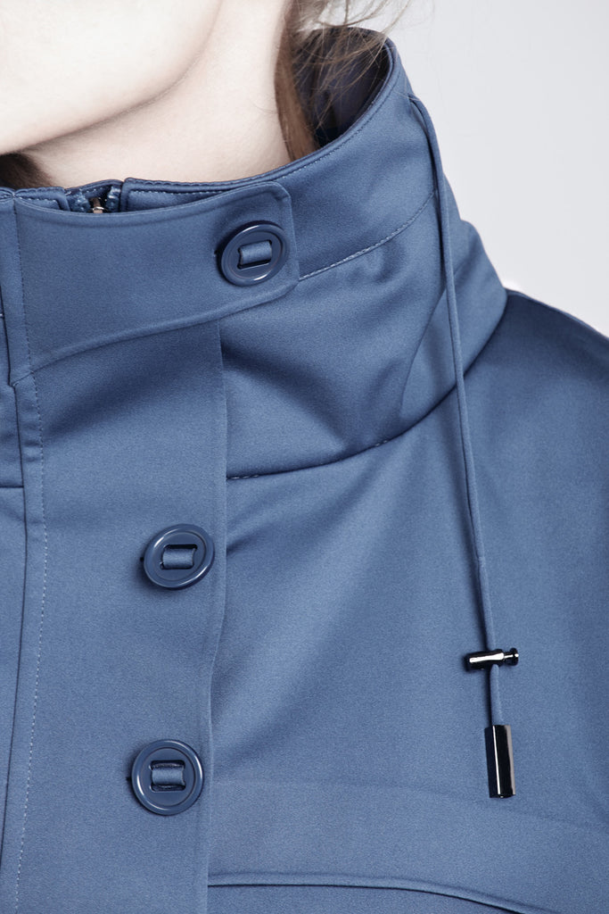 Protected Species waterproof casual athleisure athletic blue sports parka jacket with hood from The Cycling Store