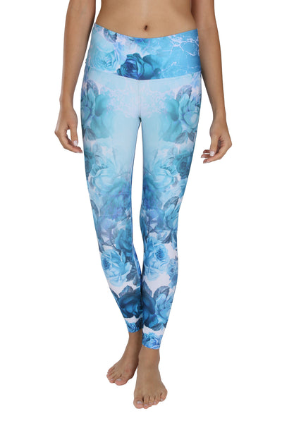 Blue roses Legging