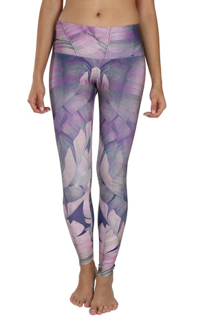 Purple Leaves Legging