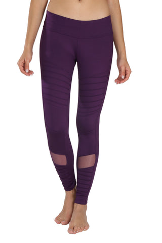 Moto mesh legging - purple