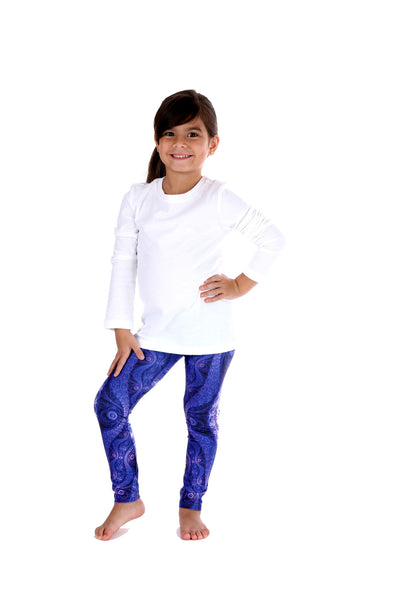 Purple Waves Kids Legging