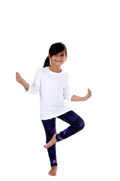 Purple Zebra Kids Legging