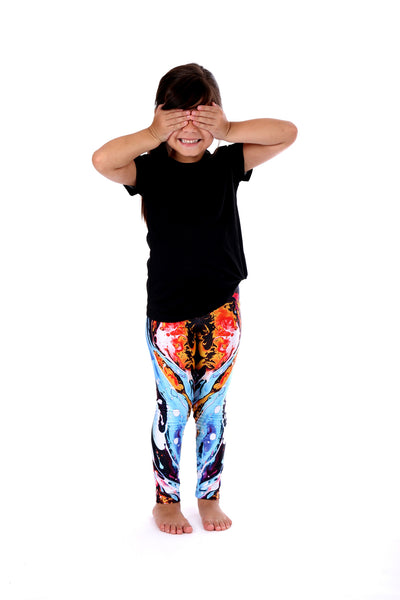 Blue Paint Kids Legging