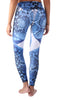 Blue Snake Animal Print Legging