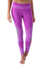 Purple Printed Mesh Legging