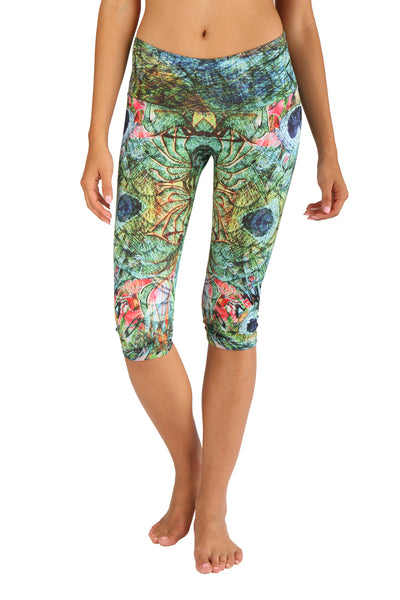 Peacock Feathers capri - Light compression