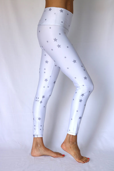 White Stargazer Yoga Pants