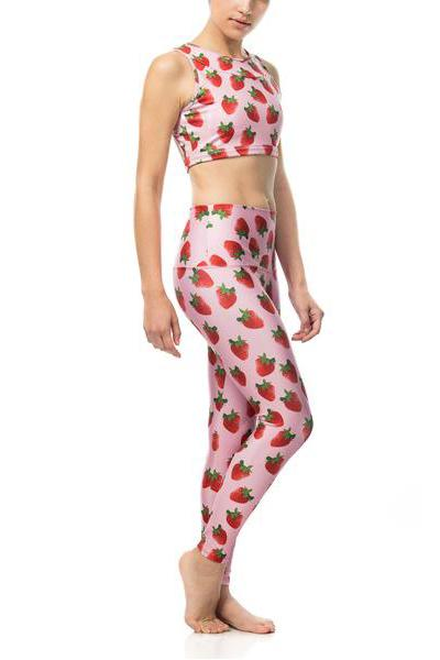 Strawberry Yoga Pants