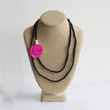 Getaway Necklace: Six in One. Pink & Black