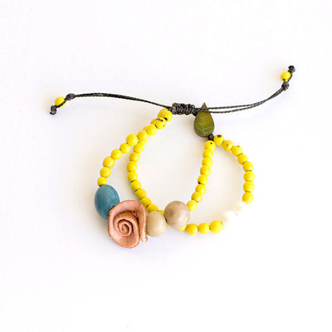 Charmed Bracelet . Yellow Multi