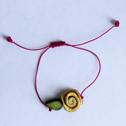 Blossom Bracelet.Cream Yellow