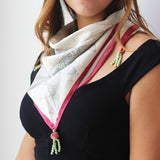 Ethnic Scarf/Head Wrap. Natural