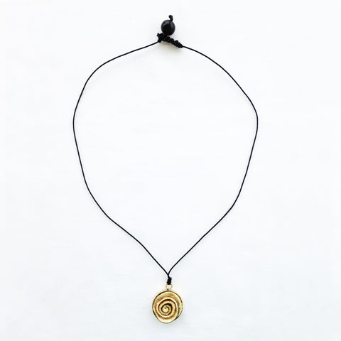 The Gold Rose Pendant. Natural & Black