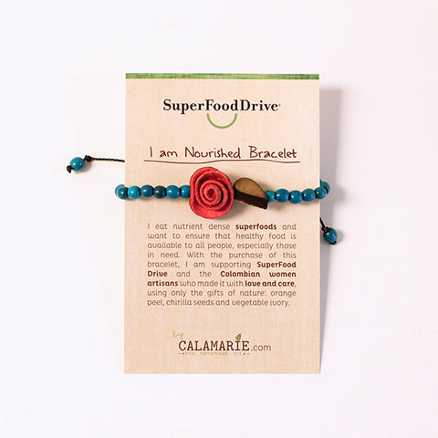 I am Nourished Bracelet. Coral