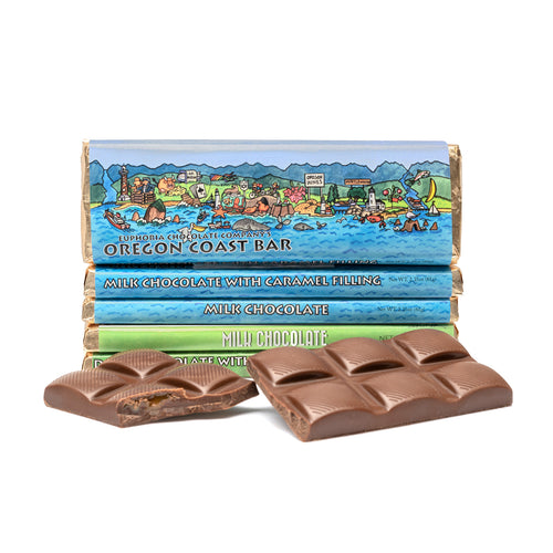 Milk Chocolate and Caramel Oregon Coast Bar