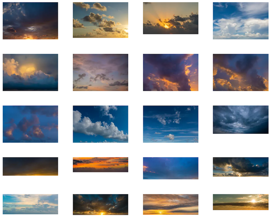 Endless summer collection sky overlays