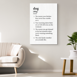 Dog Definition Canvas Wall Art