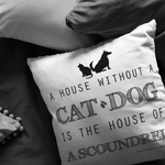 House of a Scoundrel Throw Pillow