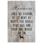 Heaven Goes By Favour Canvas Wall Art