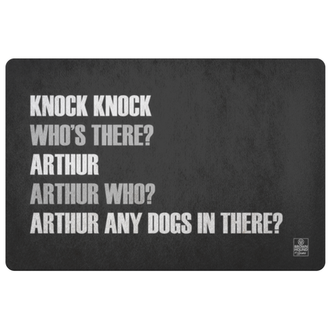 Knock Knock Joke Door Mat - Arthur