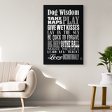 Dog Wisdom Canvas Wall Art - Black