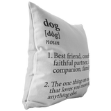 Dog Definition Throw Pillow