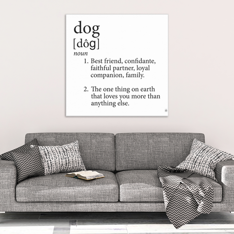 Dog Definition Canvas Art