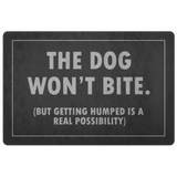 The Dog Won't Bite Door Mat
