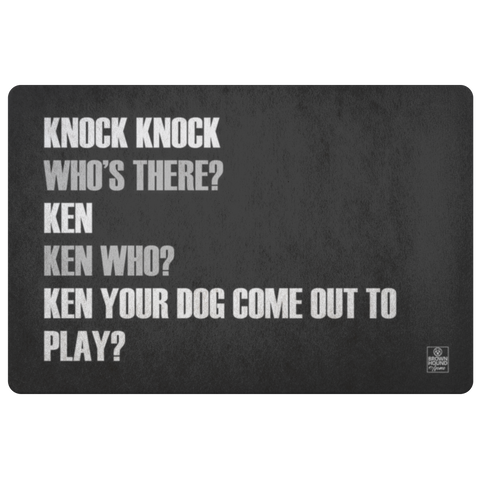 Knock Knock Joke Door Mat - Ken Who?