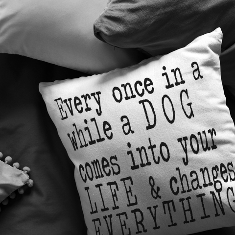 Every Once In A While Throw Pillow