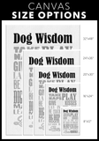 Dog Wisdom Canvas Wall Art - White
