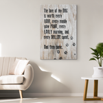 The Love Of A Dog Canvas Wall Art