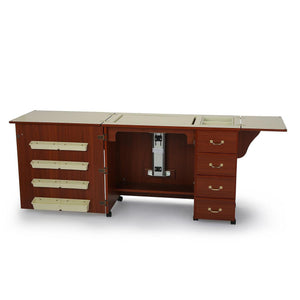 Norma Jean Sewing Table + Cabinet by Arrow