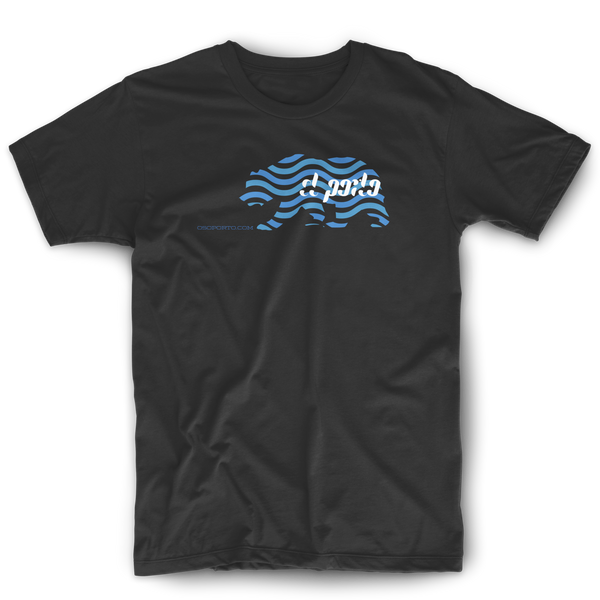 California bear waves surf minimal graphic t-shirt