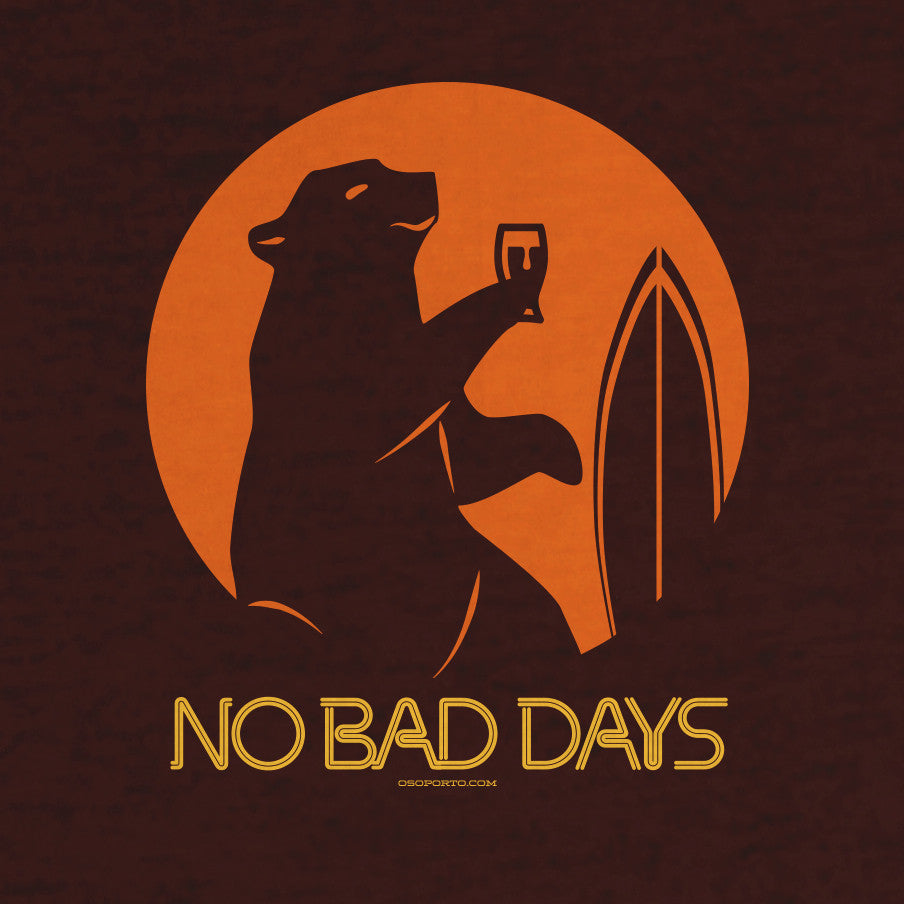 No Bad Days t-shirt California Surf Bear and Beer