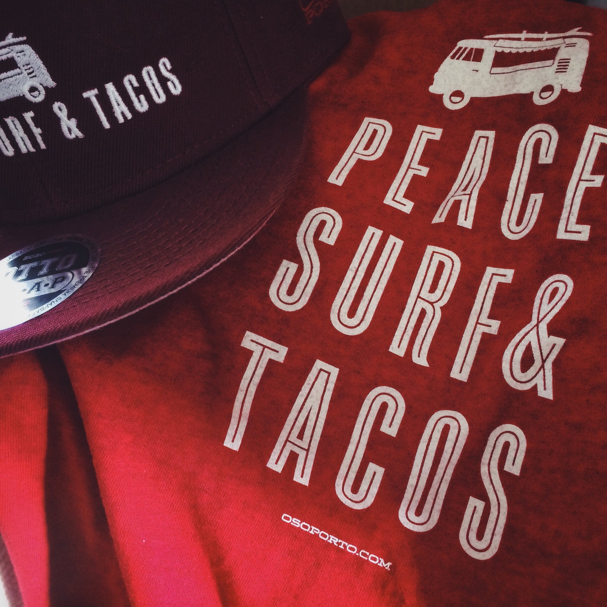 Peace Surf Tacos t-shirt and hat with vw kombi surf van bus. Peace Surf  Tacos t-shirt and hat with vw kombi surf van bus 6fc3b896af69