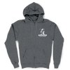 Dark Heather Zip Hoodie (closest ladies: sport grey)
