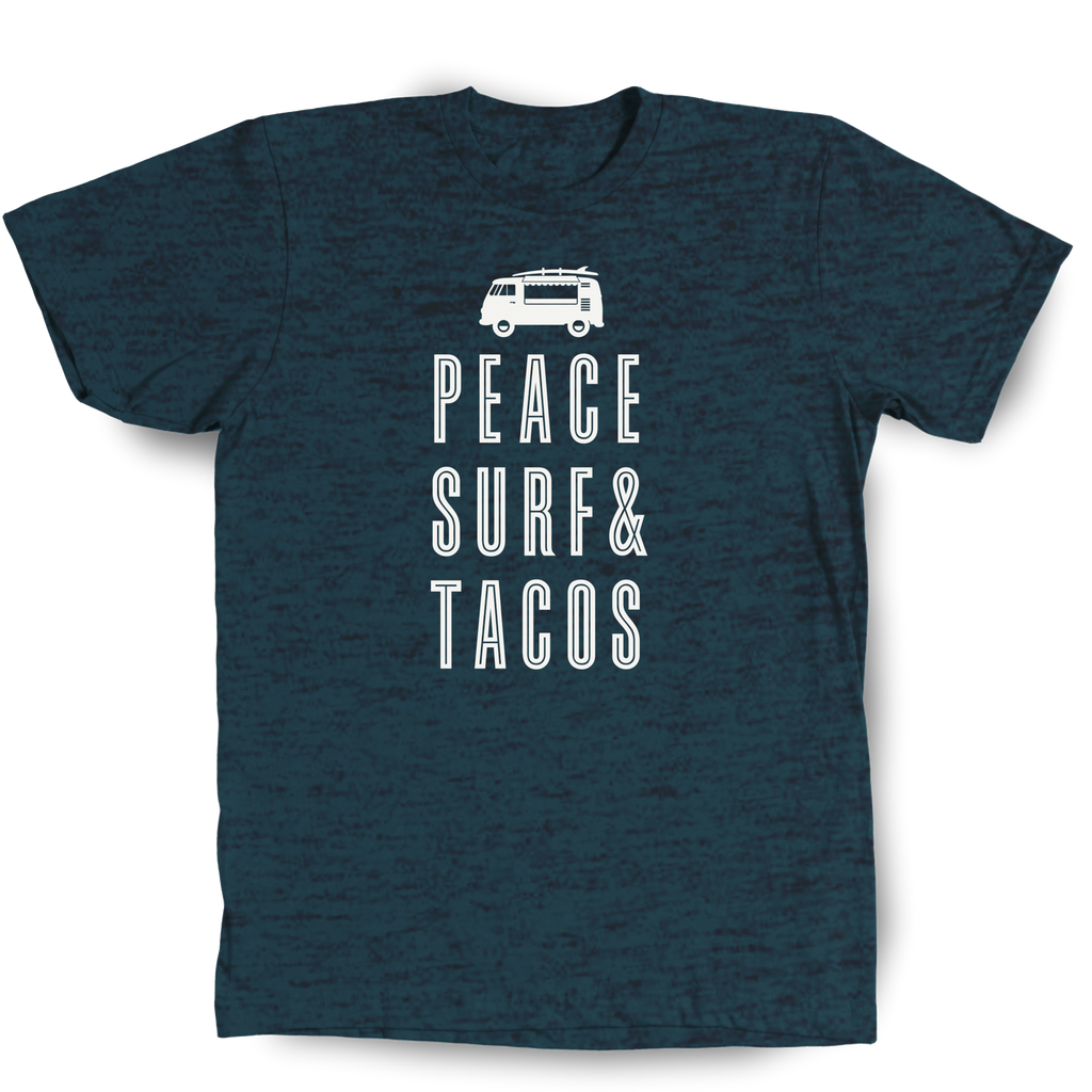 Peace Surf and Tacos Midnight t-shirt