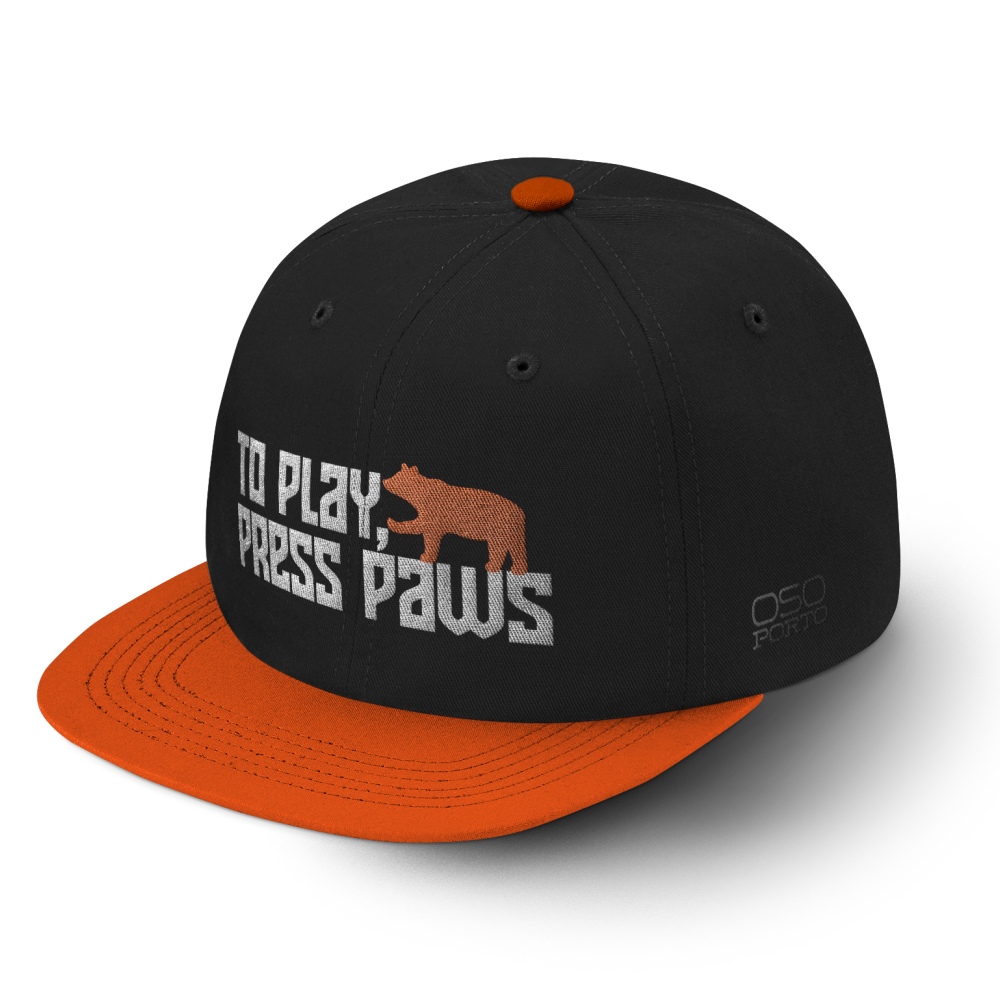 To Play Press Paws Snapback